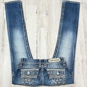 Rock Revival Bluebell Straight Leg Jean's. Size 27